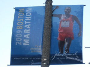 2009 boston marathon banner