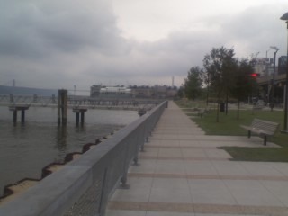 Harlem Piers along the Hudson River Parkway