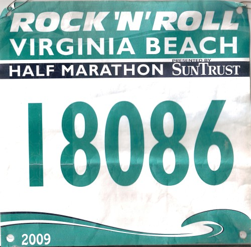 My bib from this year's race